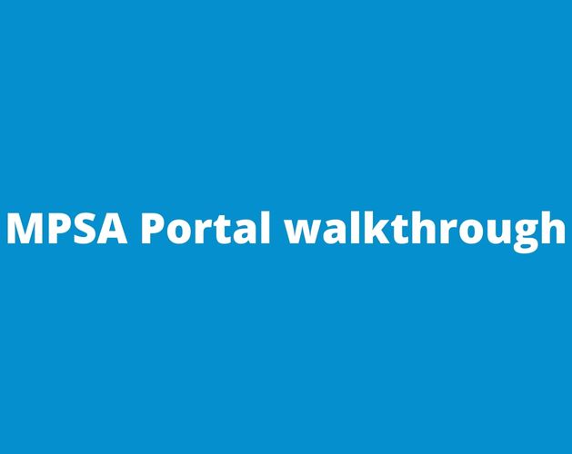 MPSA Portal walkthrough